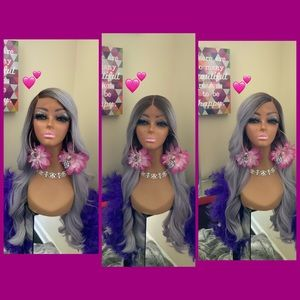 Human Hair blended lace front wig ❤️